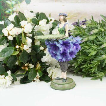 Dekofigur Teelichthalter Blumenmädchen Kornblümchen