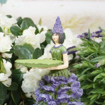 Dekofigur Teelichthalter Blumenmädchen Lavendelchen