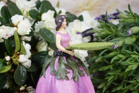 Dekofigur Teelichthalter Blumenmädchen Nice Flower
