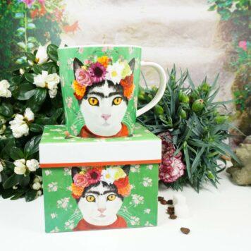 PPD Henkelbecher Flower Cat mit Geschenkbox