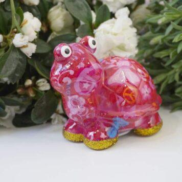 Pomme Pidou Spardose Petit Schildkröte Zeppy Peace Pink