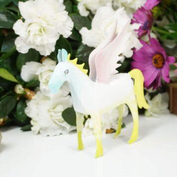 Pape Dekofigur Blech Flügelperd Pferd mit Flügel Pegasus Mint Rosa Türkis