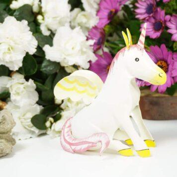 Pape Einhorn Dekofigur Blech Figur Unicorn Fantasy White