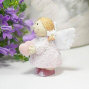Dekofigur Schutzengelchen Petit Rosa Herz