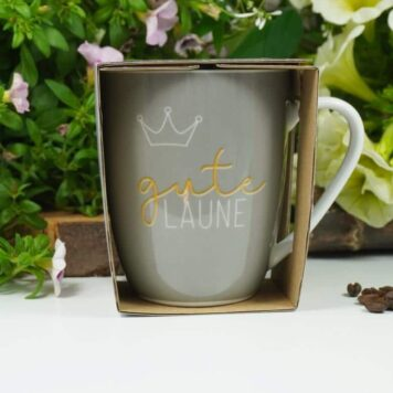 Henkelbecher Sprüche Kaffeetasse gute Laune