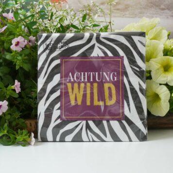 LaVida Servietten für Dich Achtung Wild