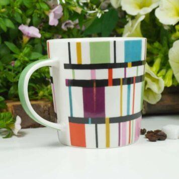 PPD Henkelbecher Kaffeebecher Abstrakt Design