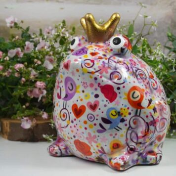 Pomme Pidou Spardose Money Bank Frosch Freddy Flower Pink