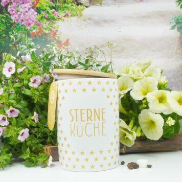 Vorratsdose Keramikdose 1 L Sterne Küche