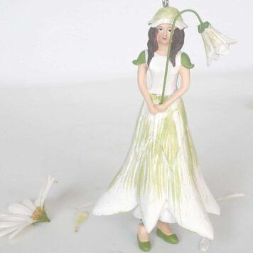 Deko Figur Blumenmädchen Akeleimädchen weiß zum Hängen
