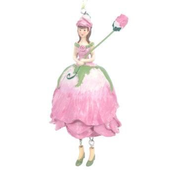 Deko Figur Blumenmädchen Rosenmädchen Rosa zum Hängen