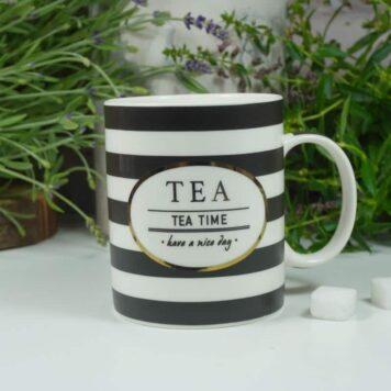 Henkelbecher Sprüche Tasse Tee Tasse Tea Time have a nice day