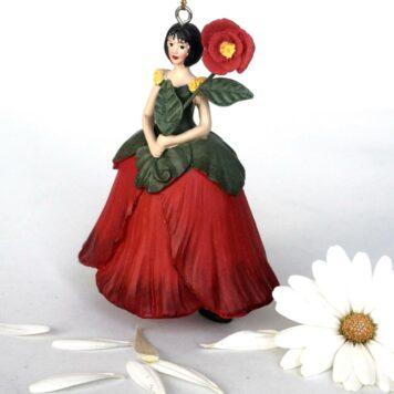 Deko Figur Blumenmädchen Mohnblumenmädchen zum Hängen
