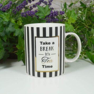Wurm Henkelbecher Sprüche Tasse Tee Tasse Take a Break Its Tea Time