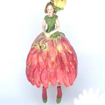 Deko Figur Blumenmädchen Dahlienmädchen zum Hängen