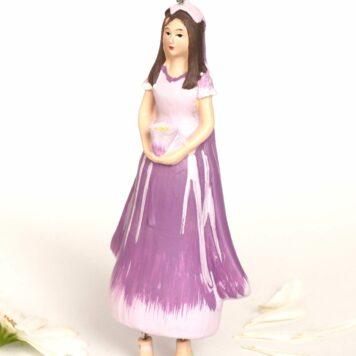 Deko Figur Blumenmädchen Fingerhutmädchen lila zum Hängen