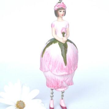 Deko Figur Blumenmädchen Rosenknospenmädchen zum Hängen