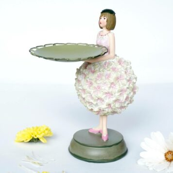 Dekofigur Teelichthalter Kerzenhalter Blumenmädchen Hortensienmädchen