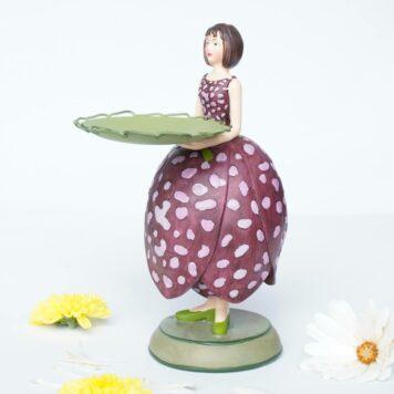 Dekofigur Teelichthalter Kerzenhalter Blumenmädchen Schachblume