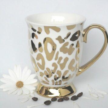 Werner Voß Henkelbecher Kaffeebecher Porzellan Becher Gold Silence