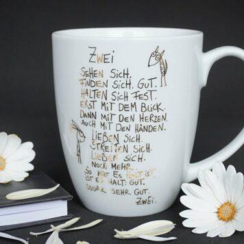 edition Gute Geister Porzellanbecher - Henkelbecher - Sprüche Tasse - Zwei Sehen Sich.