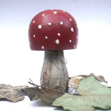 Deko Pilz Holz Fliegenpilz Natur Herbstdeko Klein