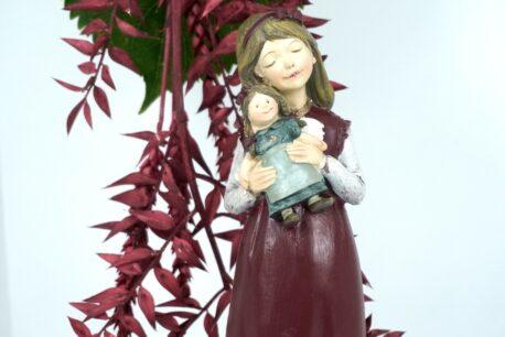 Dekofigur Clayre & Eef Mädchen Figur mit Puppe