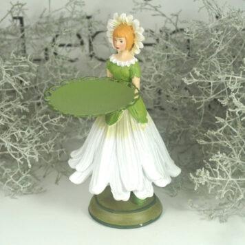Dekofigur Teelichthalter Kerzenhalter Blumenmädchen Margeritenmädchen