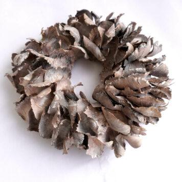 Herbstkranz Naturkranz Palmblüte White Wash 25∅
