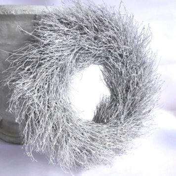 Herbstkranz Reisigkranz Naturgetrocknet Weiß 29∅
